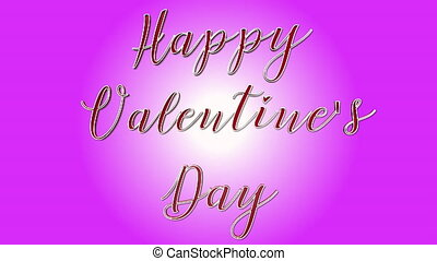 Happy Valentine s Day 3D Text Looping Animation - Heart Shapes On Pink Background