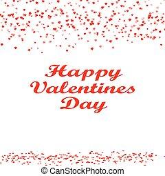 Happy Valentine s day card hearts
