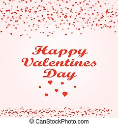 Happy Valentine s day card hearts