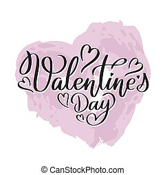 Happy Valentine s day hand written lettering text
