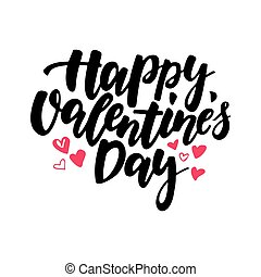 Happy Valentine s Day vector lettering . Isolated...