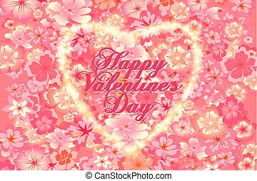 Happy Valentine s Day vintage lettering greeting