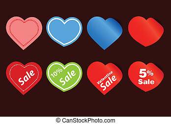 Happy valentine sale stickers