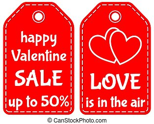 Happy valentine sale up to 50 love is in the air tag set -...