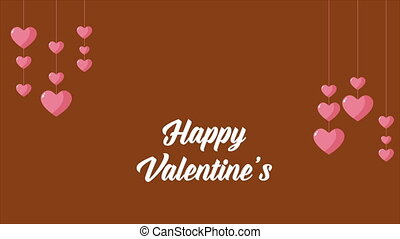 Happy Valentine with animation love