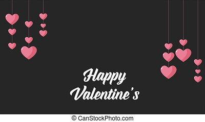 Happy Valentine with animation love
