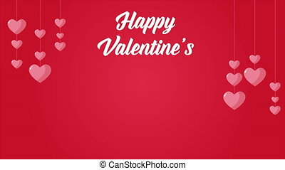 Happy Valentine with animation love collection