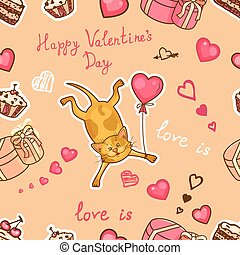 happy valentines cat
