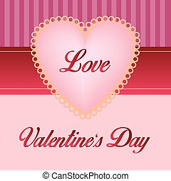 a colored background with an isolated heart and text for valentine's day