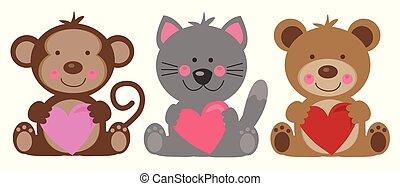 Happy Valentines Day Animals