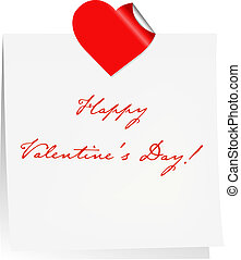 Happy Valentines Day Blank Note Paper
