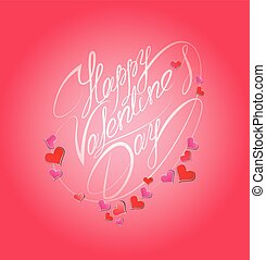 Happy Valentine`s Day. Calligraphic element, holiday card with h
