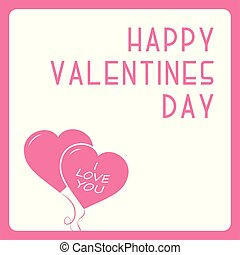 Happy valentines day card - creative design