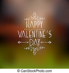 Happy Valentines Day card design with calligraphic elements