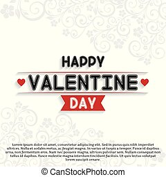 Happy Valentine's day card set white background