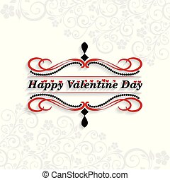 Happy Valentine's day card set with white pattern background