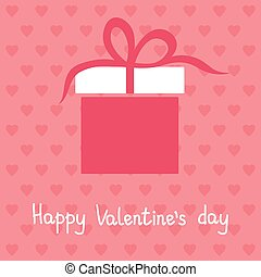 Happy Valentine's day card, vector illustration