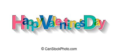 Happy Valentine's Day card, vector illustration.