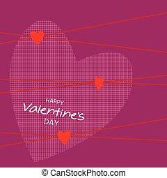 Happy valentine's day card. Vector illustration