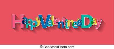 Happy Valentine's Day card, vector illustration.
