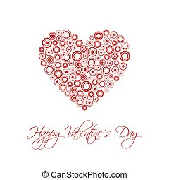 Happy Valentines day card with abstract heart, Be my Valentine background, vector illustration