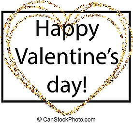 Happy Valentine's day card with heart.