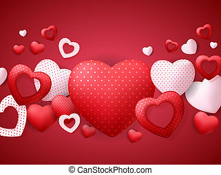 Happy Valentines Day Card with Heart. Illustration
