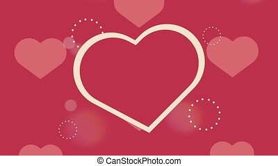 happy valentines day card with hearts pattern