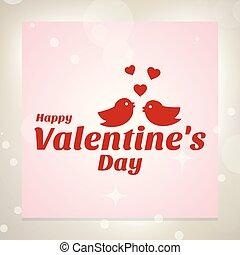 Happy Valentine's day card with love birds