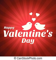 Happy Valentine's day card with pattern background