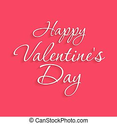 Happy Valentine's day card with pink background