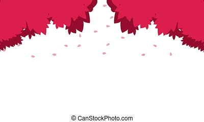 happy valentines day card with red leafs