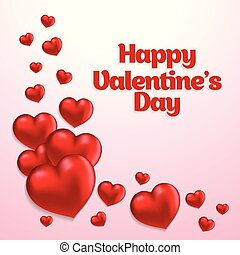Happy Valentine's day card with white background