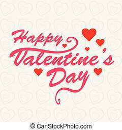 Happy Valentine's day card with white pattern
