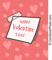 Happy Valentine's Day collection of cute sticky notes, Valentines Day background, Valentine card and poster