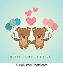happy valentines day design over background vector ...
