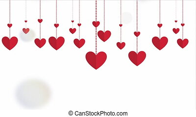 Happy valentines day design, Video Animation