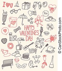 Happy Valentine's day doodle collection