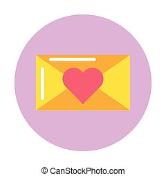 happy valentines day envelope with heart