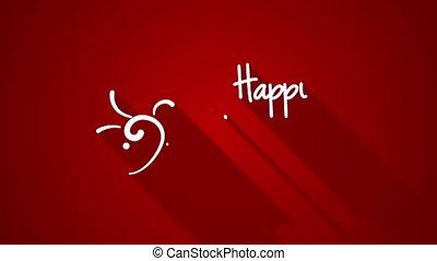 happy valentine's day greeting animation