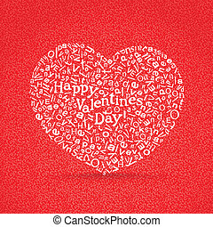 Happy valentine`s day greeting card