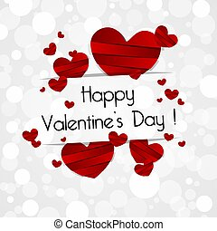 Happy Valentine's Day Greeting Card vector illustration