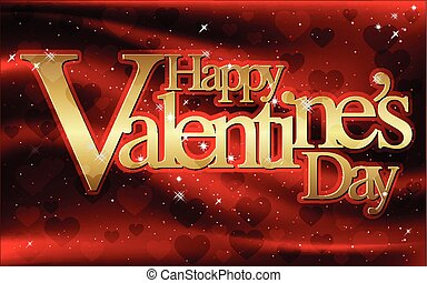 Happy Valentine's Day - greeting card, vector