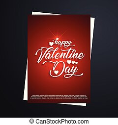 Happy Valentines day greetings card with dark background