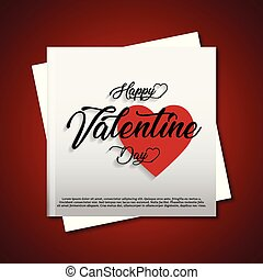 Happy Valentines day greetings card with red background