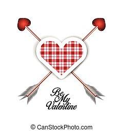 Happy valentine's day graphic design, Vector illustration
