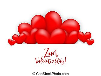 Happy valentines day heart greeting card - Glossy. Happy...