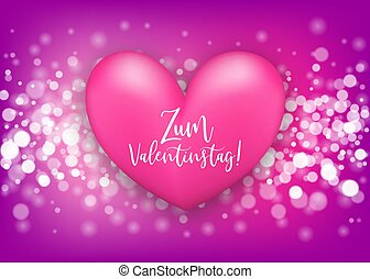 Happy valentines day heart greeting card - Happy Valentines...