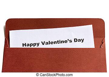 happy valentine's day in the envelope