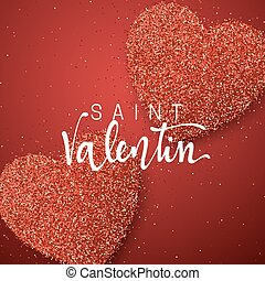 Happy Valentines Day. Lettering French Inscription Handmade.